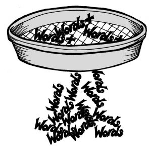 Sieve and words